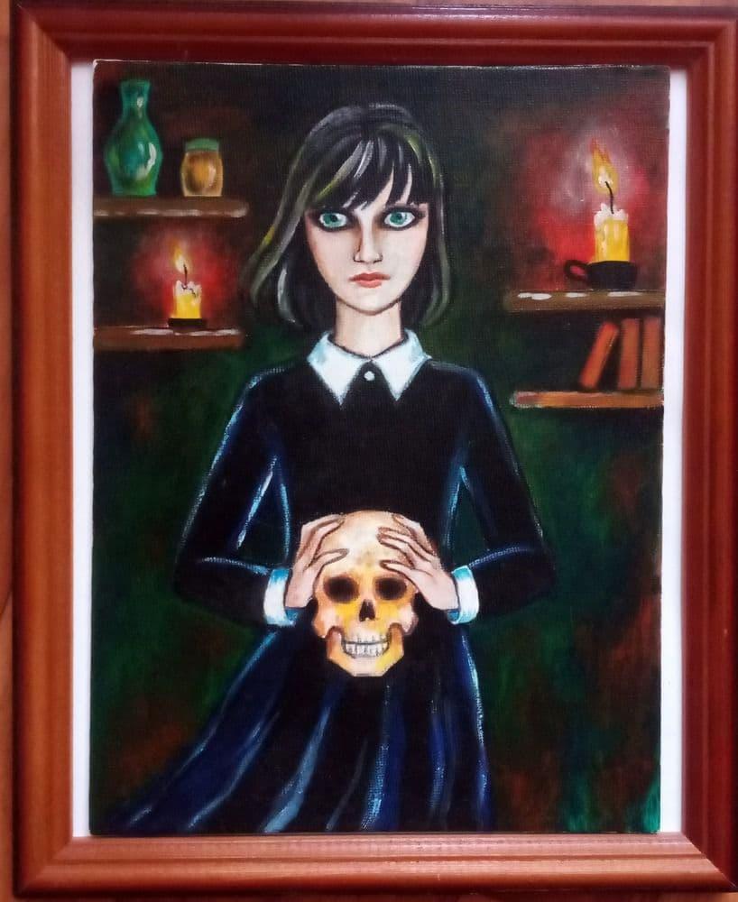 Девочка с черепом