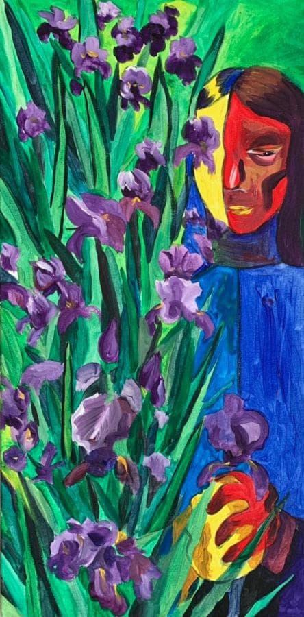 Цветок ириса  Fleur-de-lis