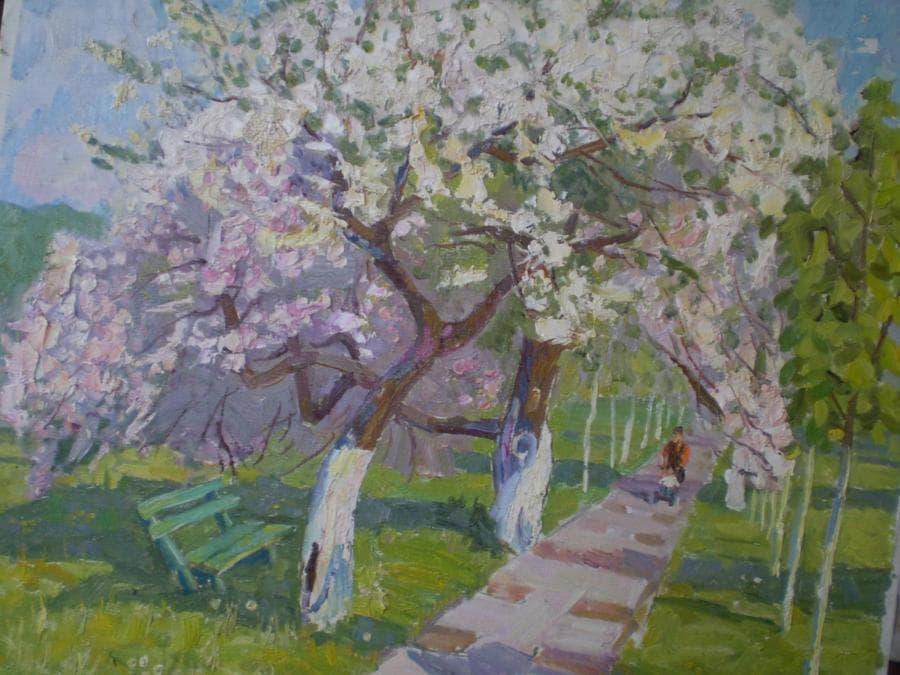 В парке весной