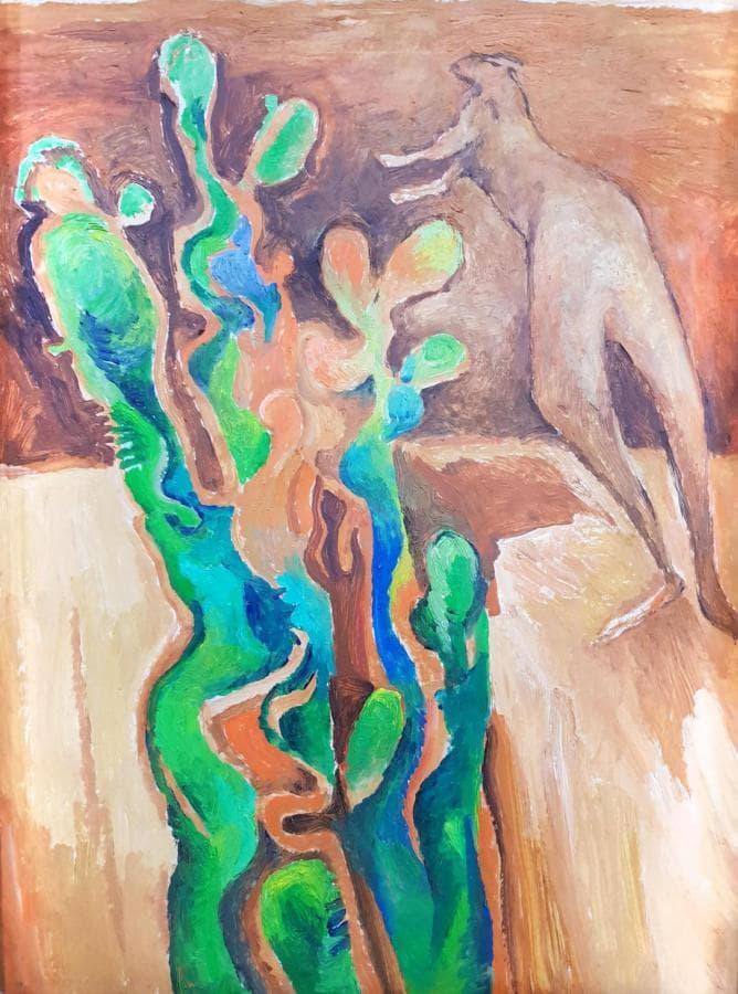 Кенгуру и кактус