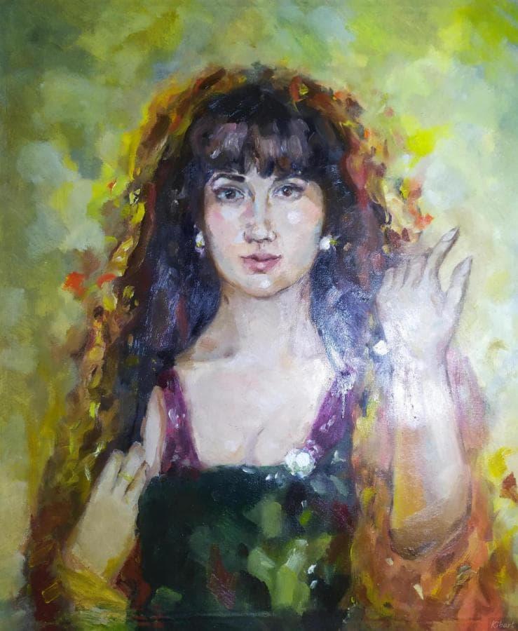 Портрет девушки в восточном стиле