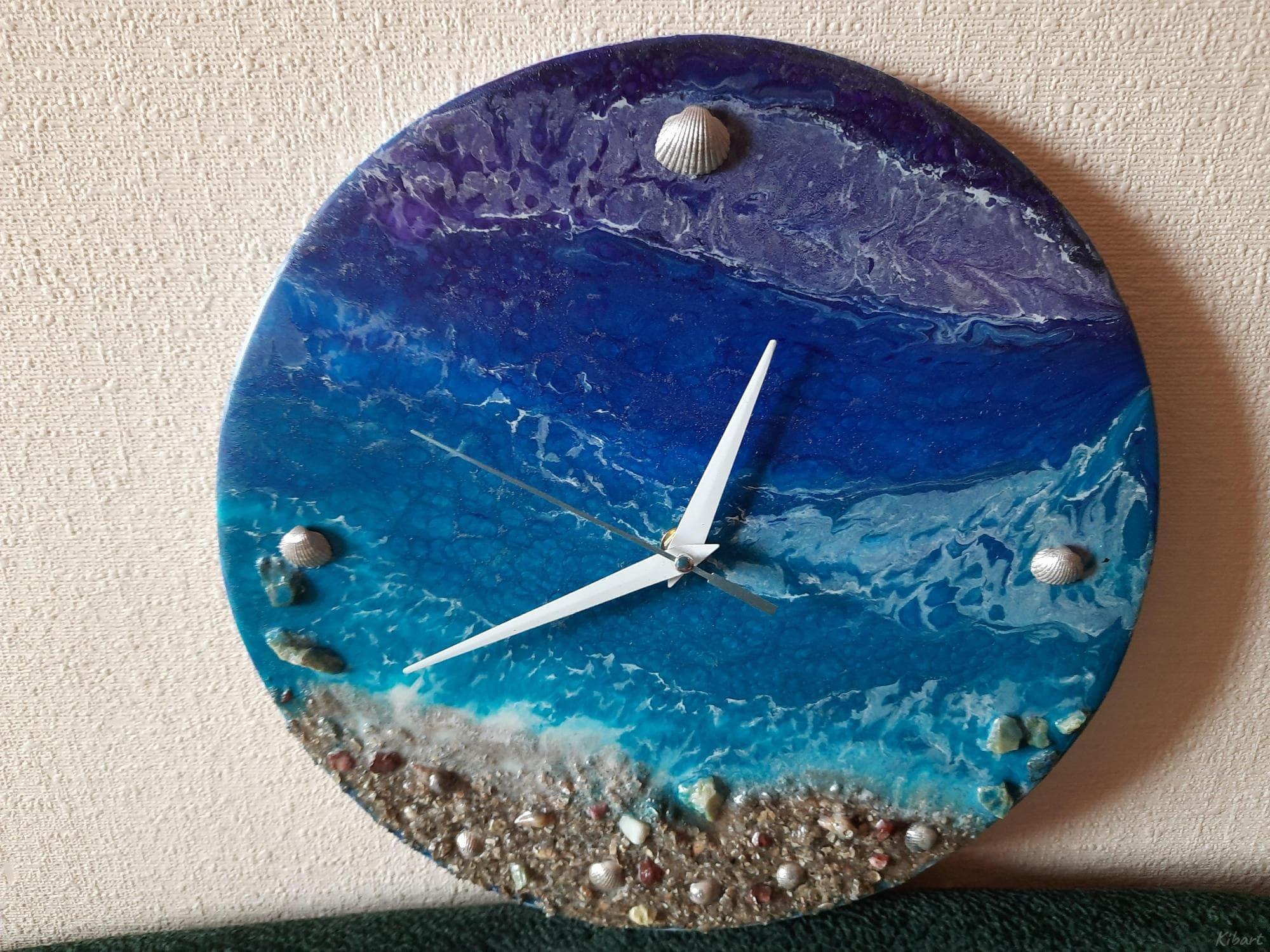 """Картина-часы """"Океан"""", эпоксидная смола - 2/2"""