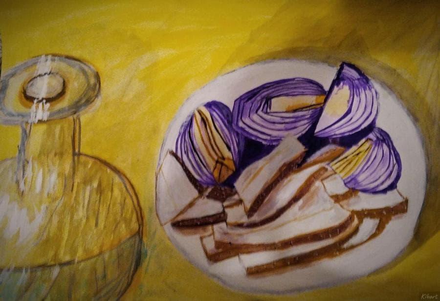 Сало с луком