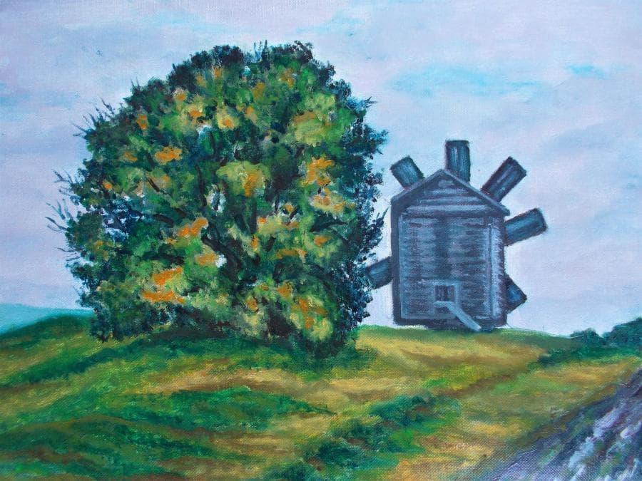 Пейзаж с ветряком