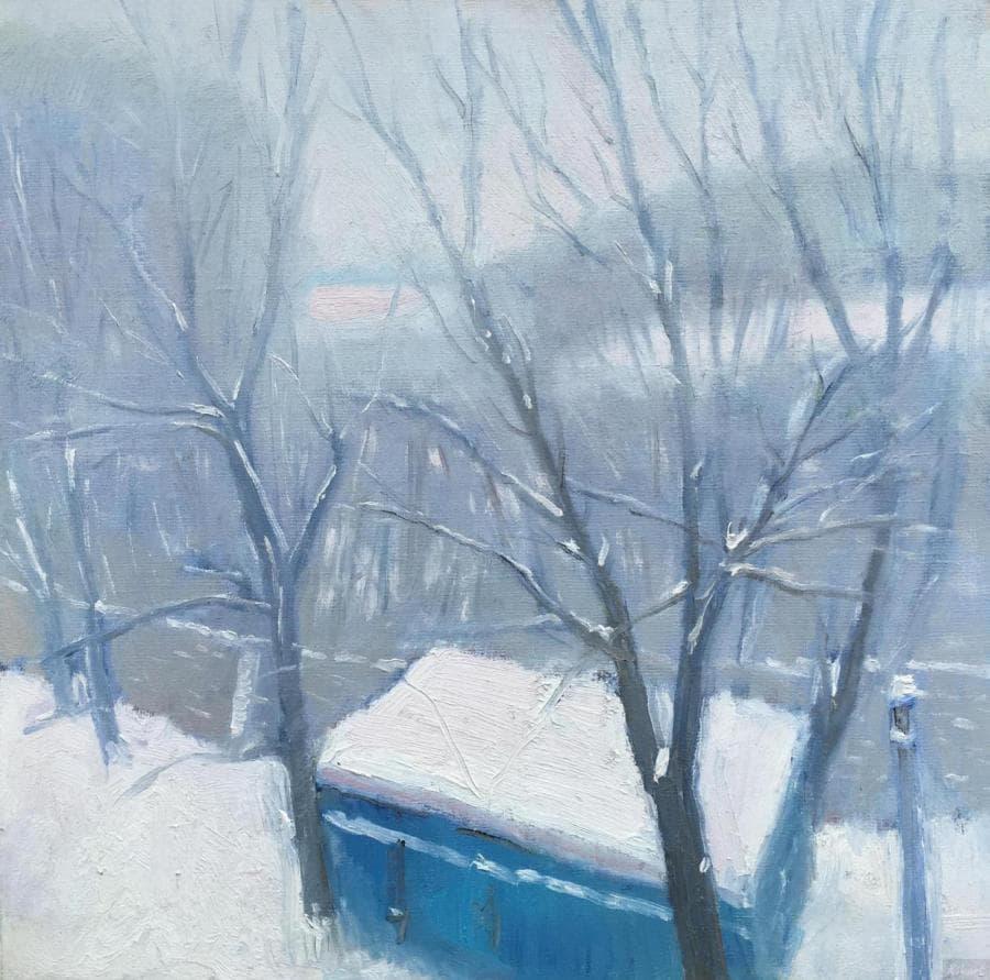 Зима гаражи