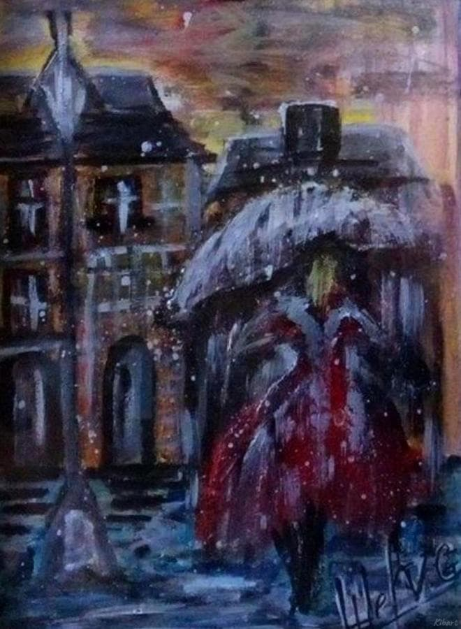 Девушка, в ногу с дождём