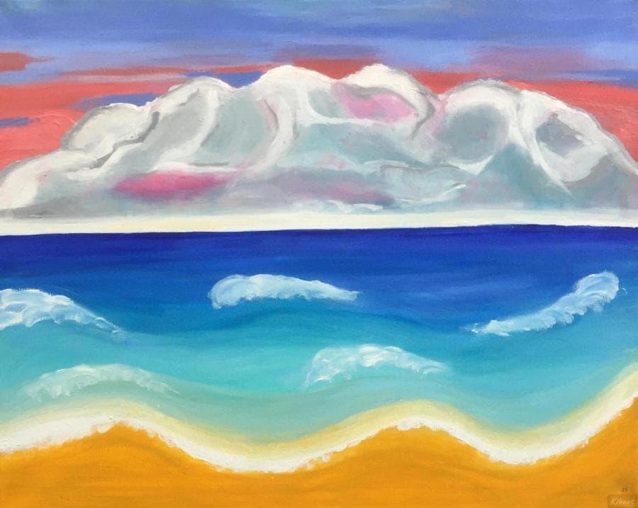 Волнистое море