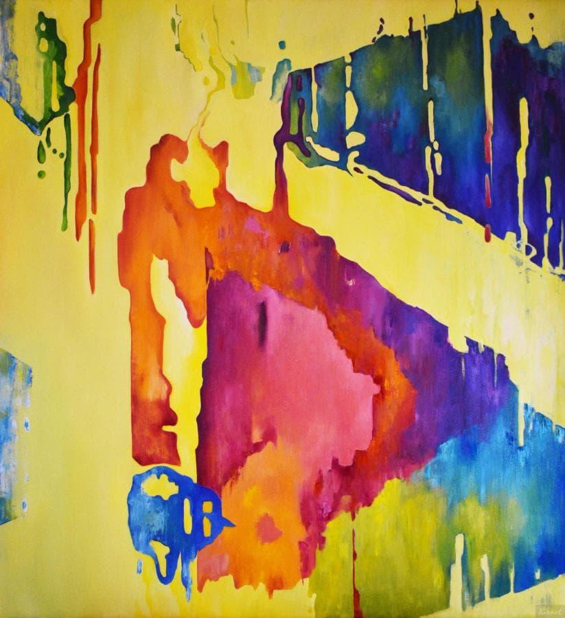 ЗВУКИ - 115*105 cm, оригинальная картина маслом