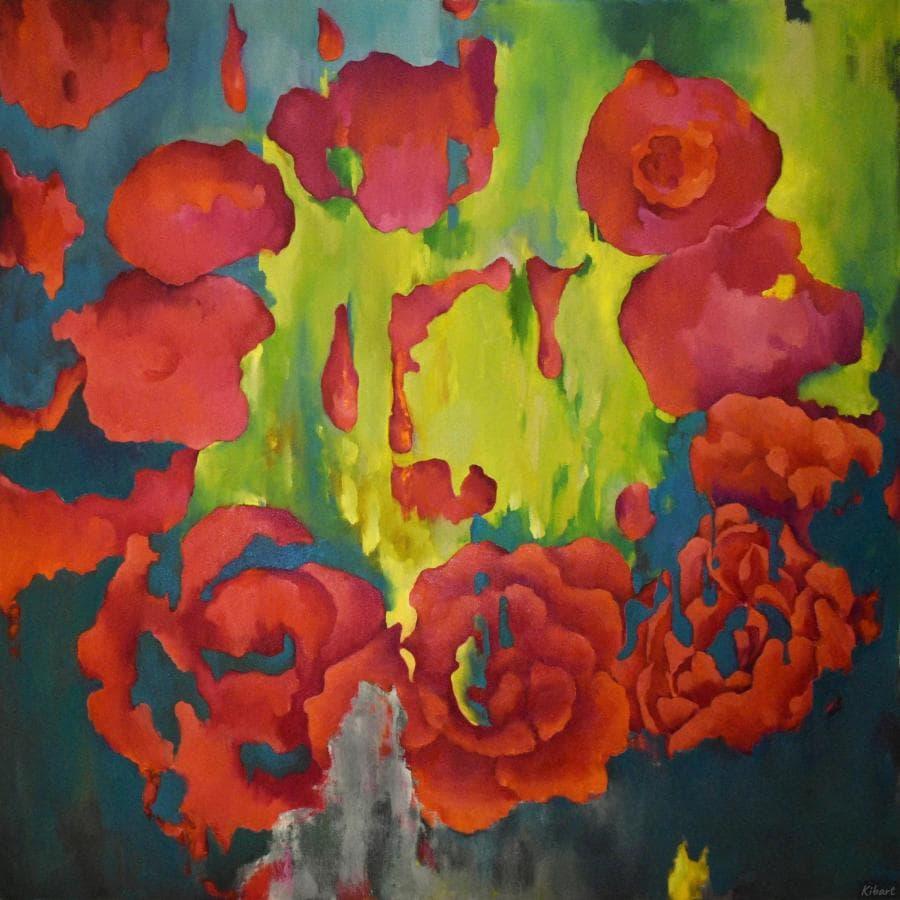 МОЛЕКУЛА - 110*110 cm, оригинальная картина маслом
