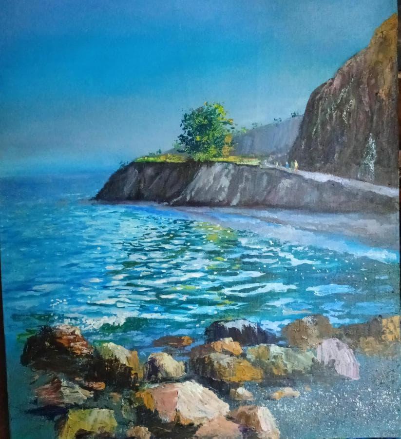 Картина авторская маслом Море Санжейка д