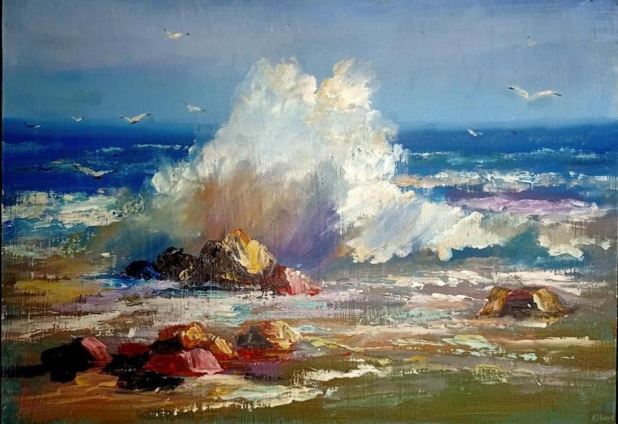 Море, волна лето