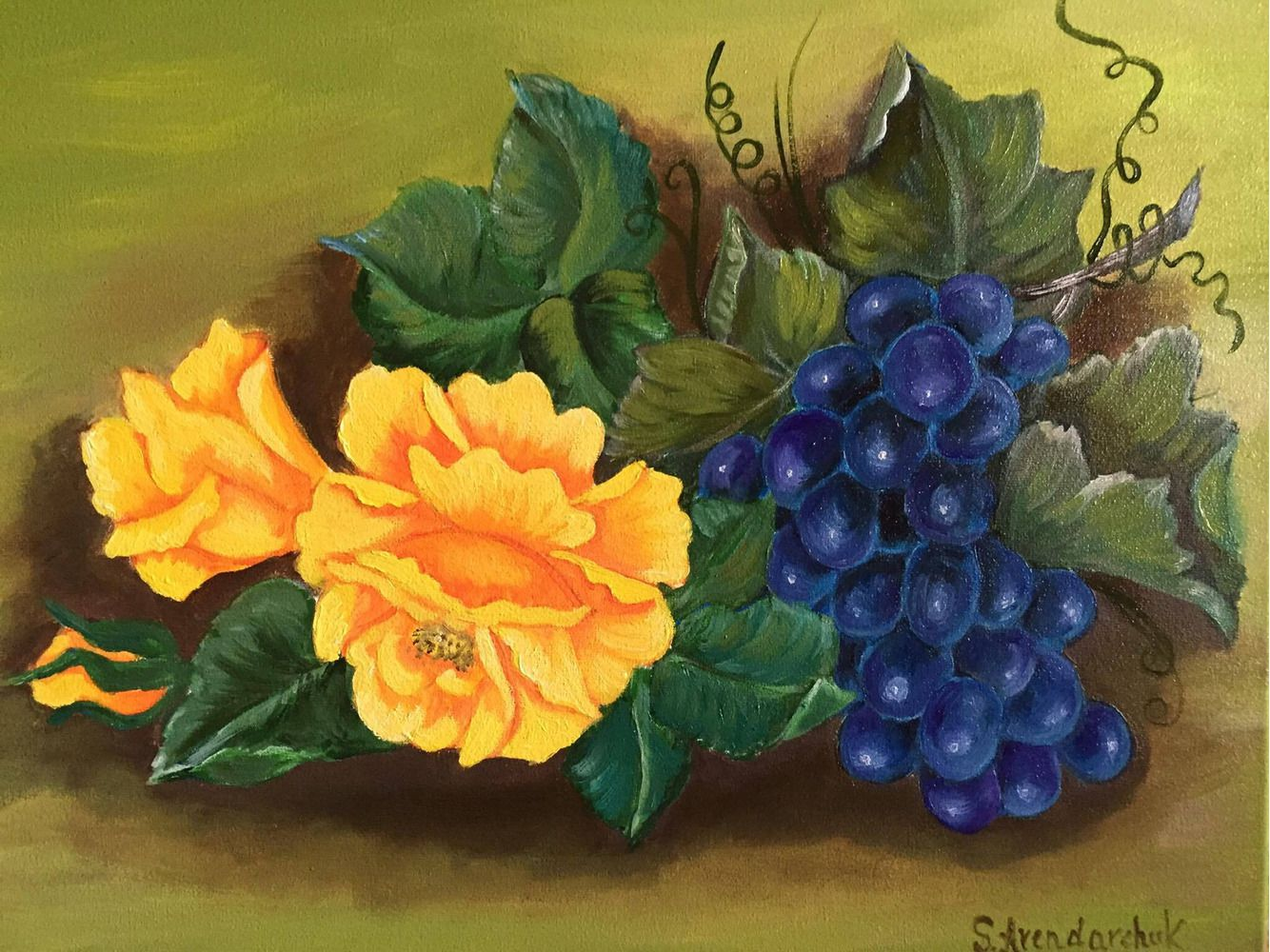 Виноград і роза