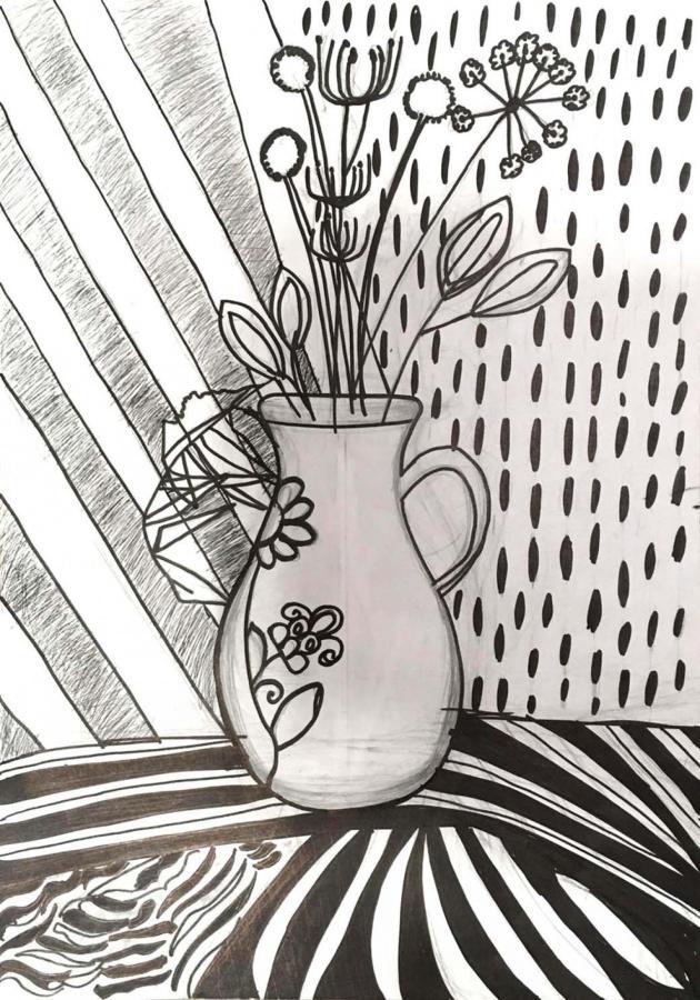 Натюрморт вазы с цветами