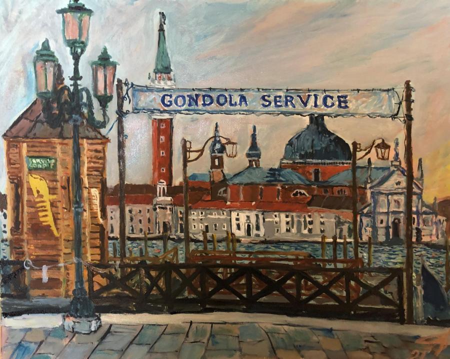 Рассвет в Венеции . Gondola Service